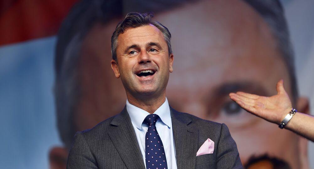 Le candidat d'extrême droite à la présidentielle autrichienne, Norbert Hofer