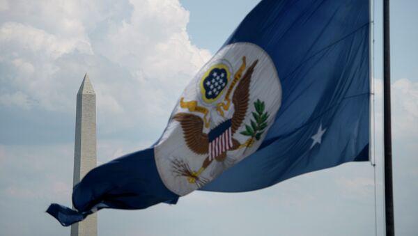 Drapeau du département d'Etat américain à Washington - Sputnik France