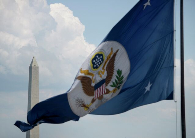 Drapeau du département d'Etat américain à Washington