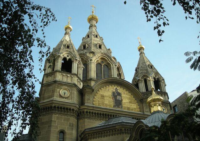 La cathédrale Saint-Alexandre-Nevsky à Paris relevant de l'exarchat du Patriarcat de Constantinople