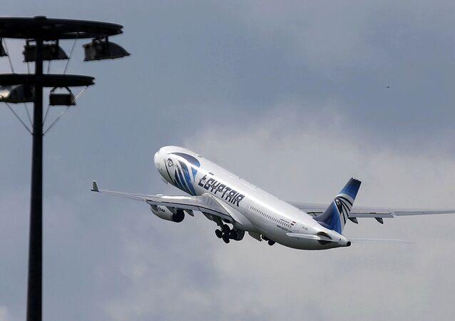 Avion de la compagnie d'EgyptAir