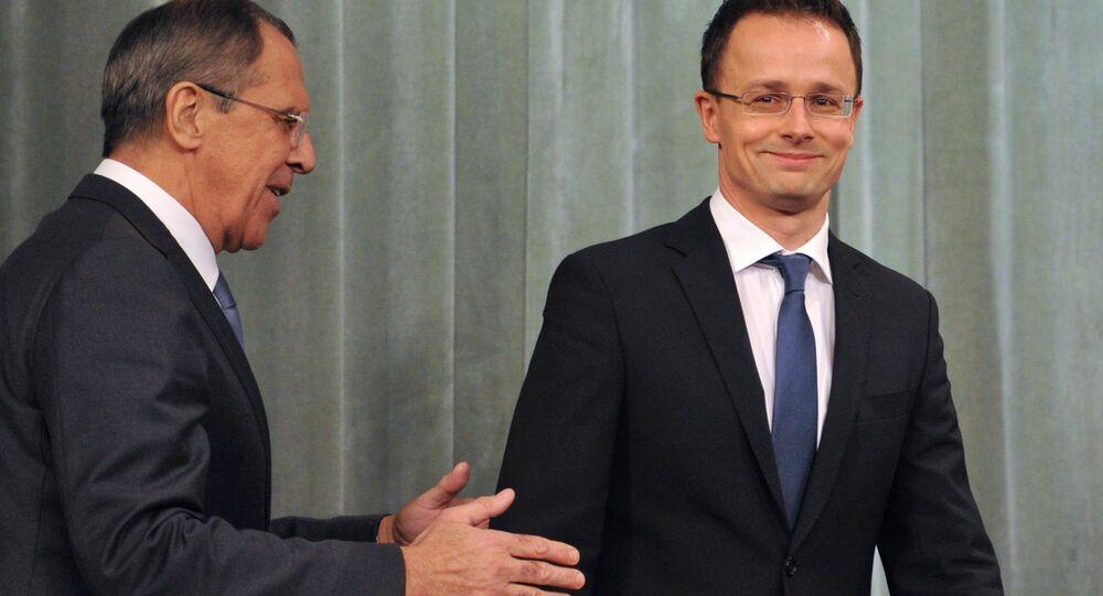 Rencontre de Segueï Lavrov et de Peter Szijjarto à Budapest
