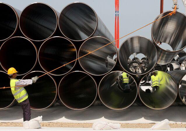 Tubes pour le futur Trans-Adriatic Pipeline