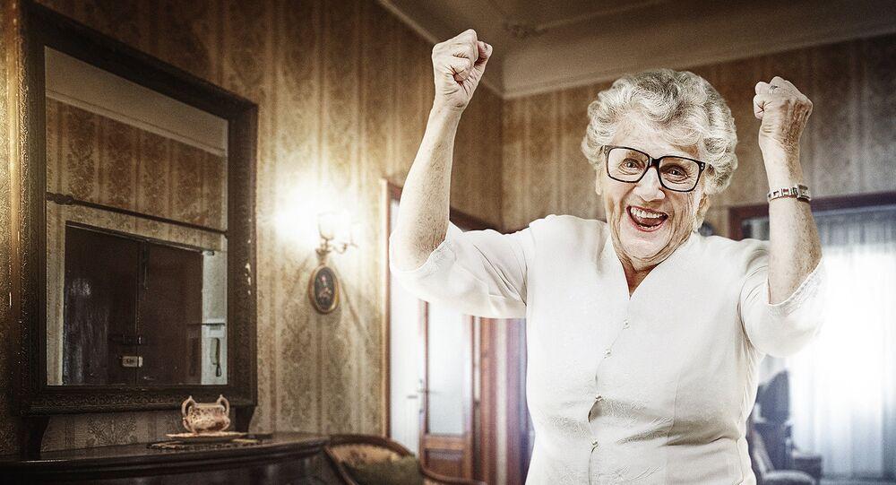 heureuse grand-mère