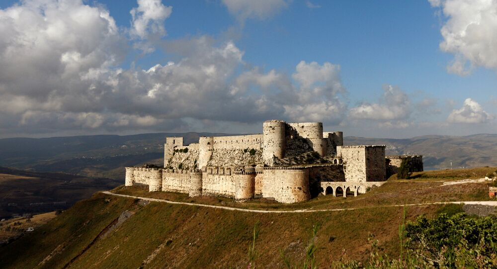 A general view shows the Crusader castle of Crac des Chevaliers, in Homs province, Syria May 24, 2016