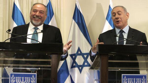 Avigdor Lieberman et Benyamin Netanyahou  - Sputnik France