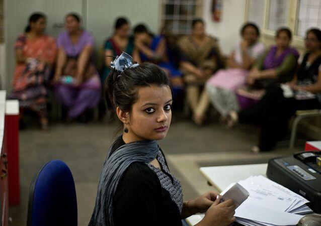 Femmes indiennes au travail
