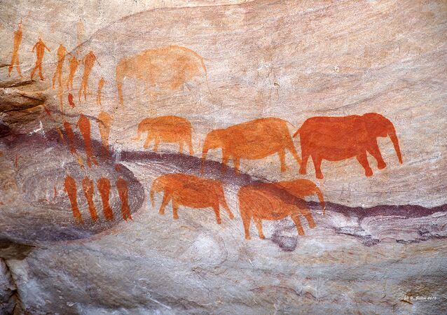 Des peintures rupestres