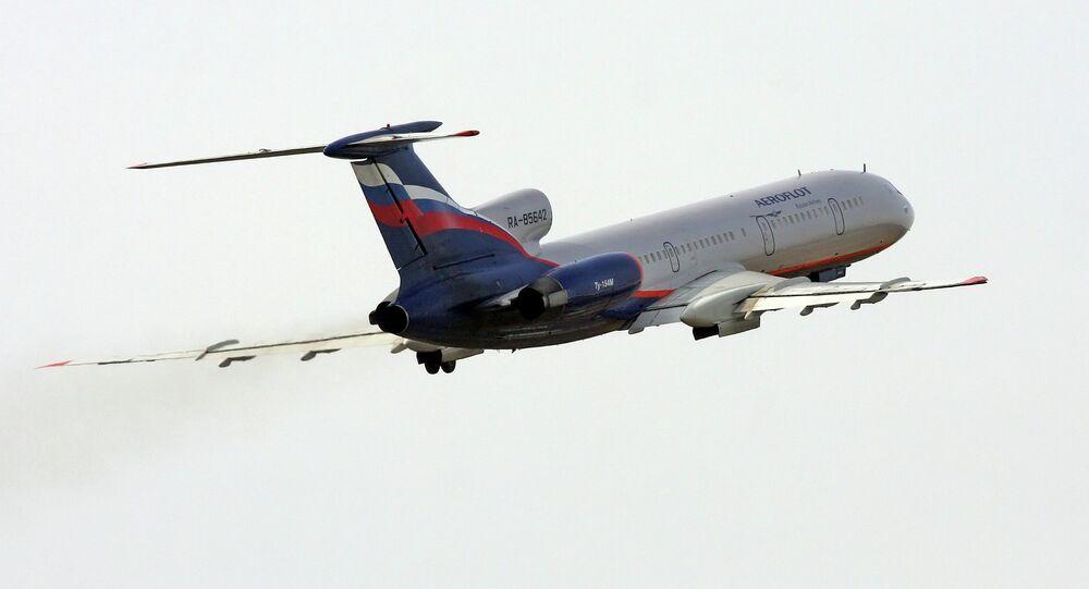 Un Tupolev Tu-154M d'Aeroflot