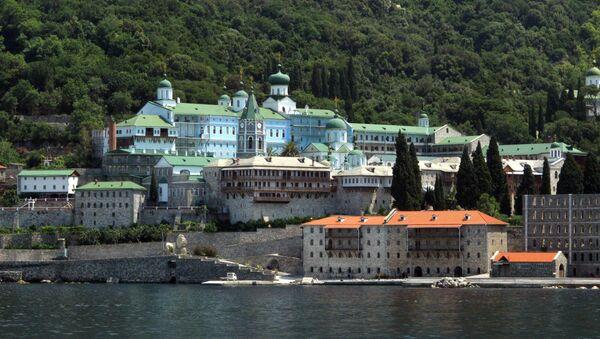 Monastère orthodoxe de Saint-Pantaléon au Mont Athos - Sputnik France