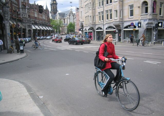 une cycliste néerlandaise