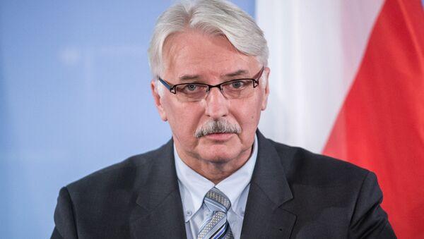 Le chef de la diplomatie polonaise Witold Waszczykowski - Sputnik France