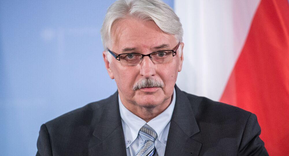 Le chef de la diplomatie polonaise Witold Waszczykowski