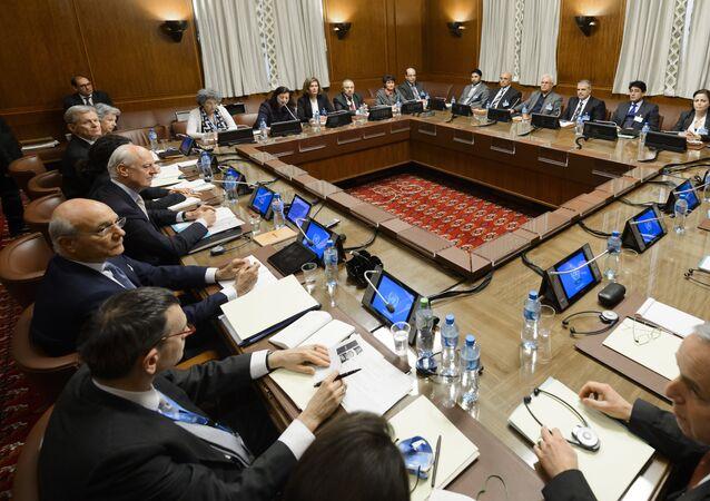 Les négociations de Genève sur la situation syrienne. Archive photo