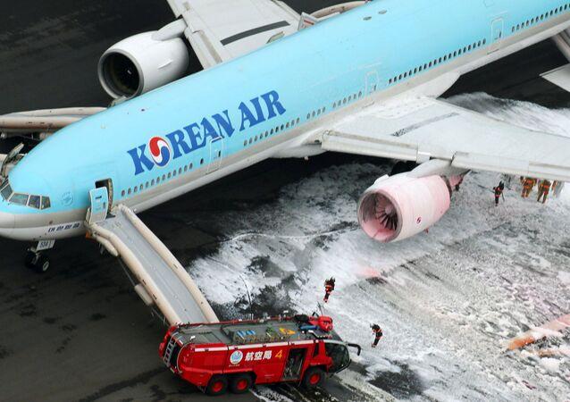 Départ de feu dans un avion Korean Air: trois pays enquêteront