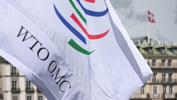 Drapeau de l'Organisation mondiale du commerce (OMC) à Genève - Sputnik France