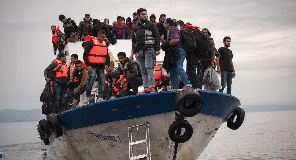 Des migrants, photo d'illustration