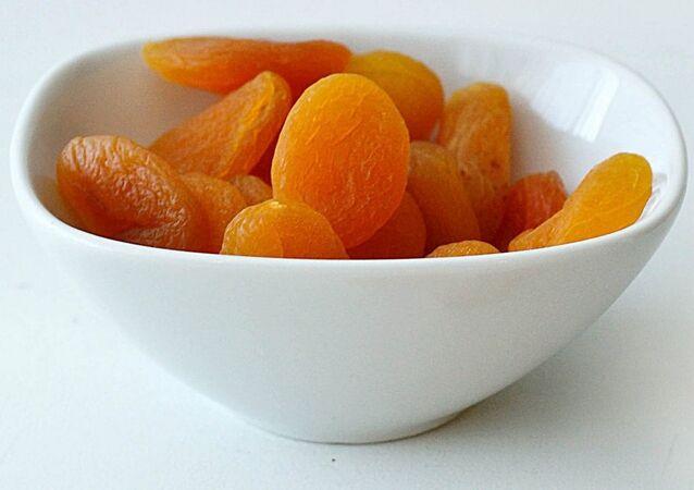 Abricots secs. Image d'illustration