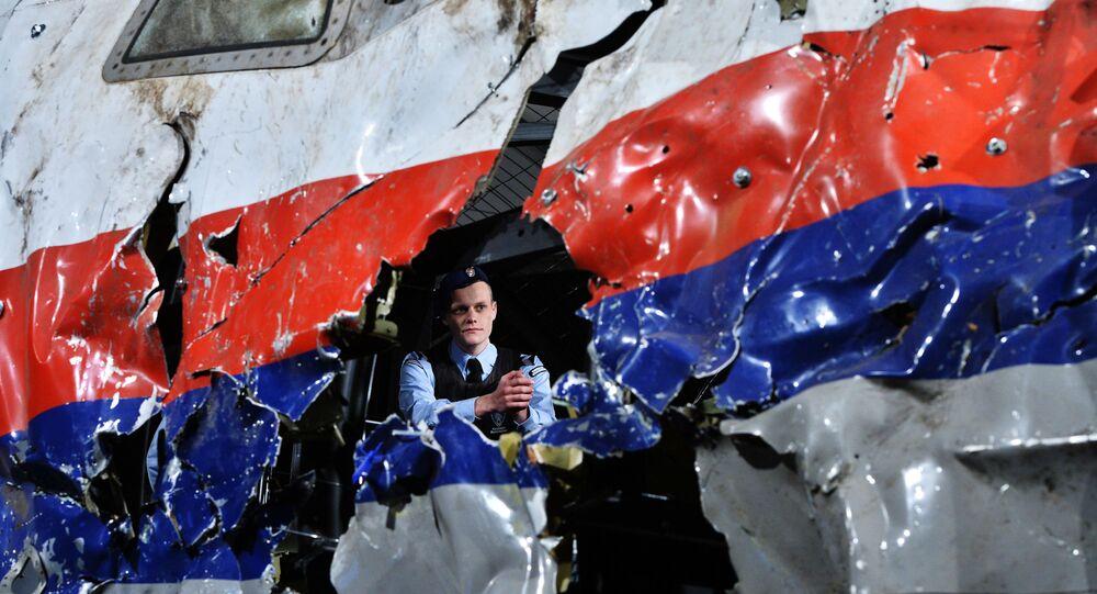 les débris du Boeing 777 Malaysia Airlines ( MH17)