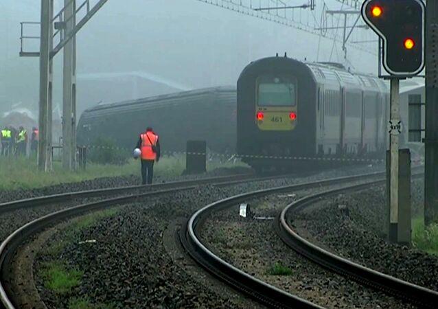Collision de trains en Belgique
