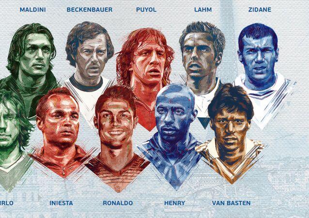 L'équipe de légende par l'UEFA