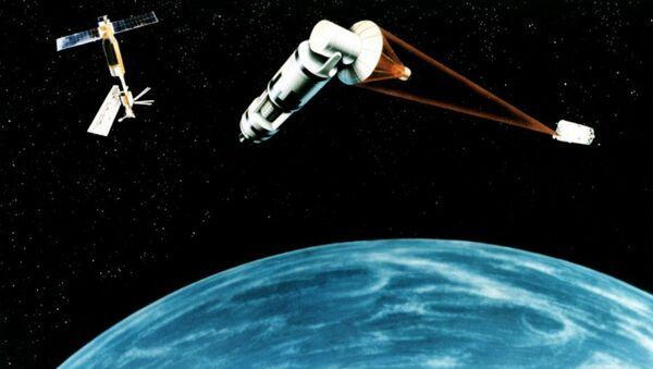 Un système spatial de défense antisatellite (vue d'artiste) - Sputnik France