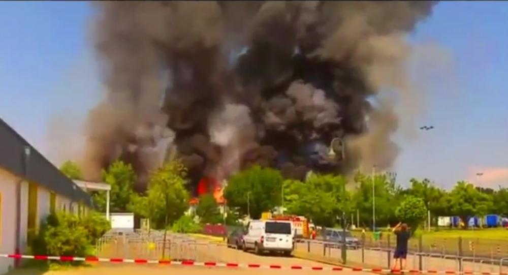 Un incendie dans un camp de réfugiés à Düsseldorf