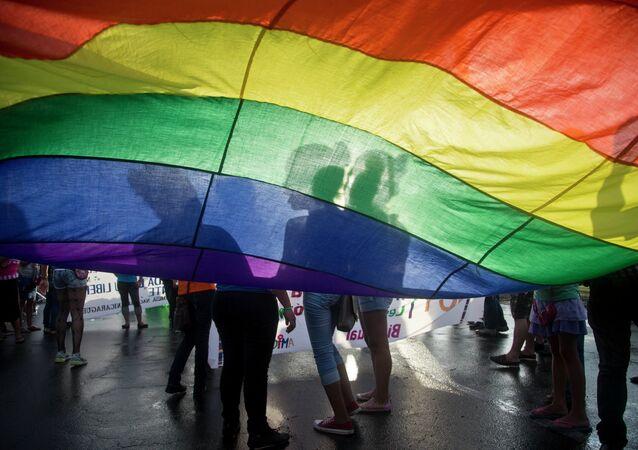 Drapeau LGBT, image d'illustration