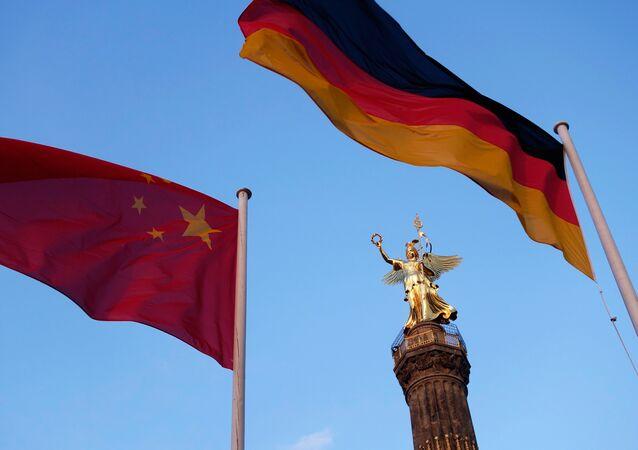 Drapeaux chinois et allemand