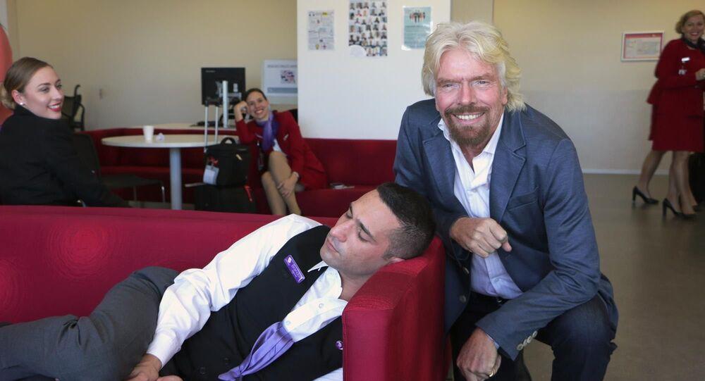 Richard Branson en Australie