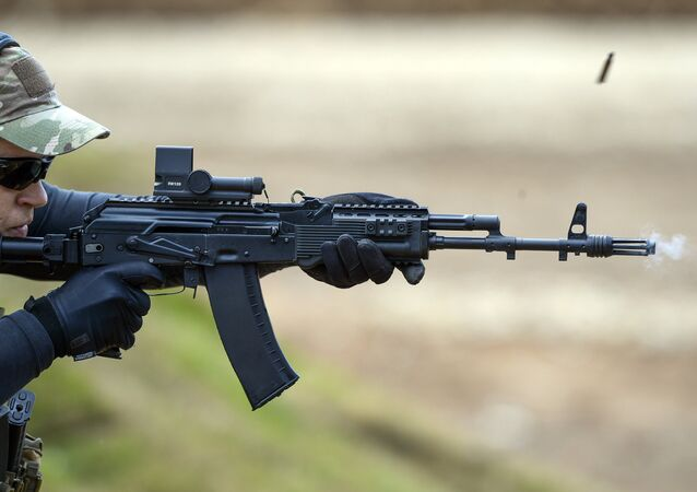 Fusil d'assaut AK-47M. Image d'illustration