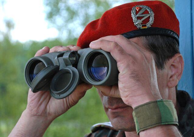 Un officier de la Bundeswehr