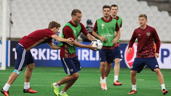 L'équipe russe de football à l'entraînement à Marseille - Sputnik France