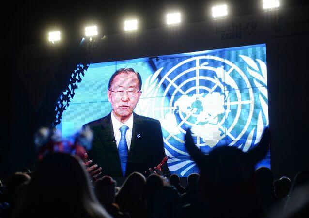 Le secrétaire général des Nations unies Ban Ki-moon