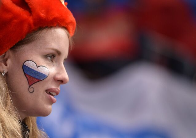 Une fan russe
