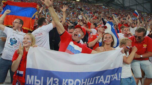 supporteurs au match Angleterre-Russie - Sputnik France