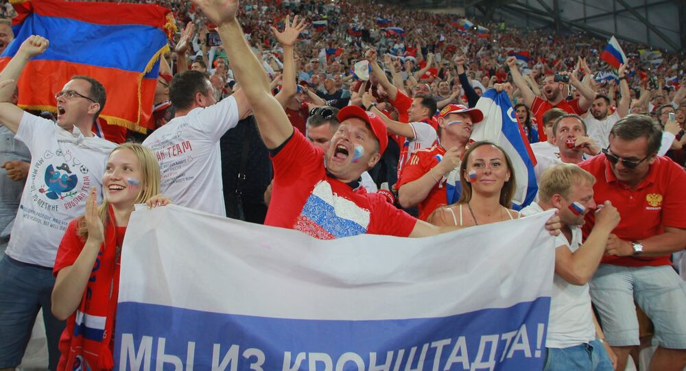 supporteurs au match Angleterre-Russie