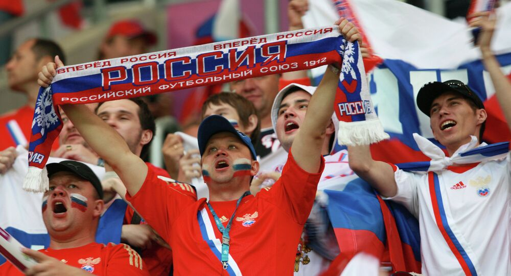 Supporters russes. Photo d'archive