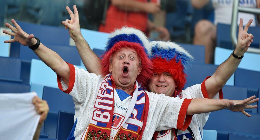 Les fans de football russes