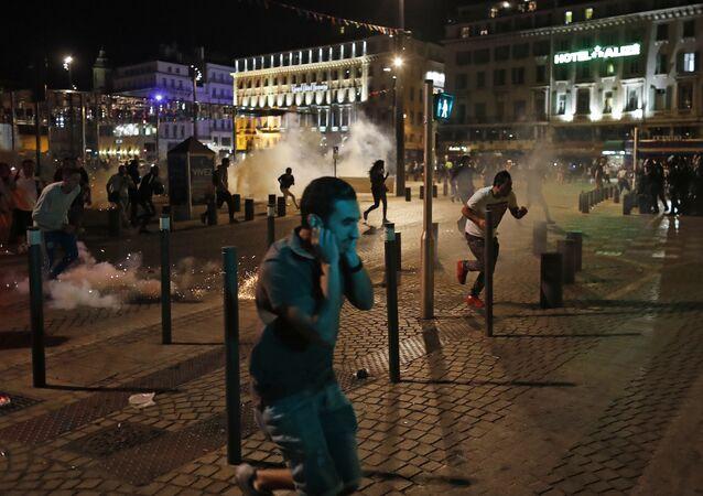Violences lors de l'Euro-2016 à Marseille, le 11 juin, 2016.