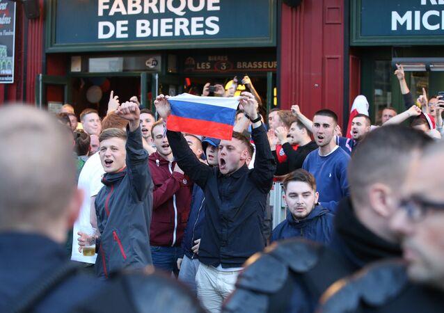 Supporters russes à l'Euro 2016 de football