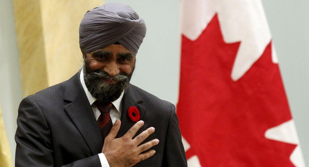 Le ministre canadien de la Défense Harjit Sajjan