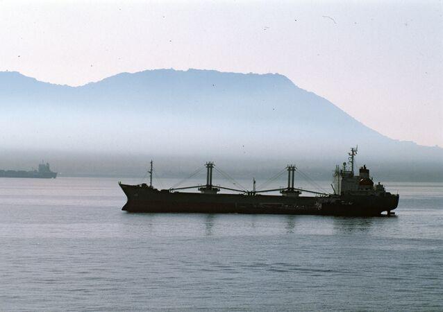 Un navire cargo