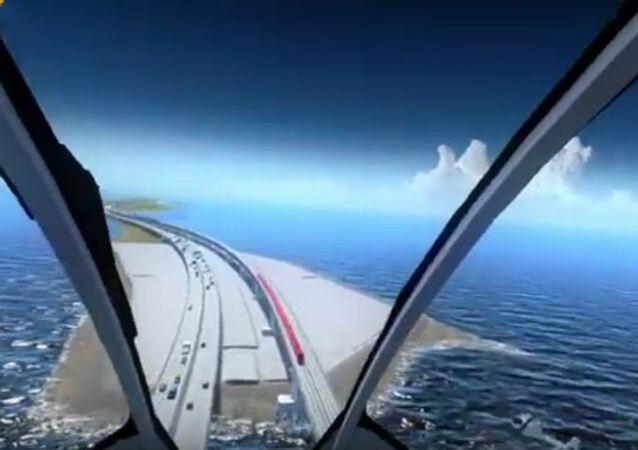 Le pont de Crimée vu du ciel