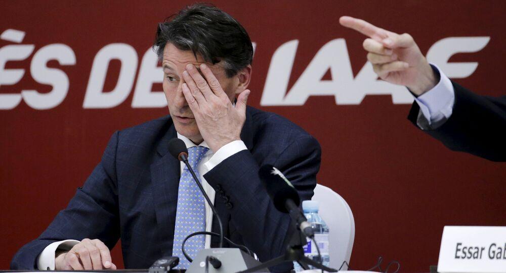 Sebastian Coe, président de l'IAAF