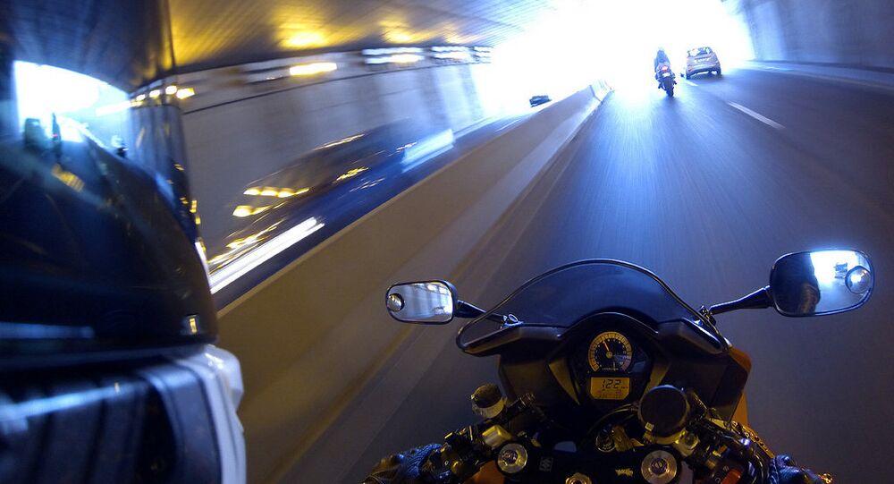 Un motard. Image d'illustration