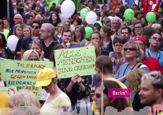 Dizaines de milliers de manifestants pour une Allemagne ouverte et diverse