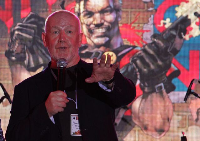 John Higgins intervient devant ses fans, Moscow Comic Convention
