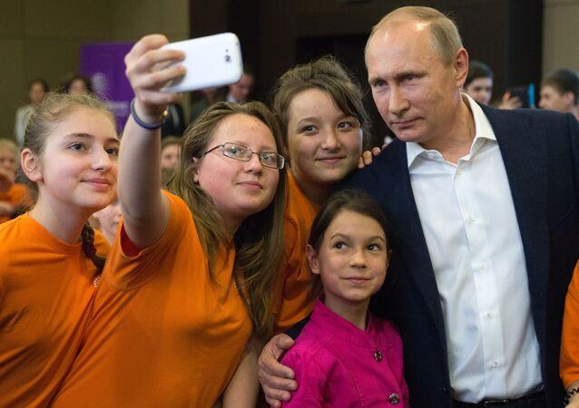 Vladimir Poutine lors d'une visite à Sotchi