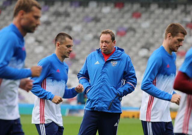 Les membres de l'équipe russe de football